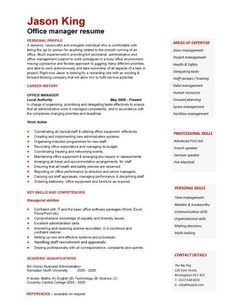 A well written resume example that will help you to convey your office manager skills, experience and academic qualifications.