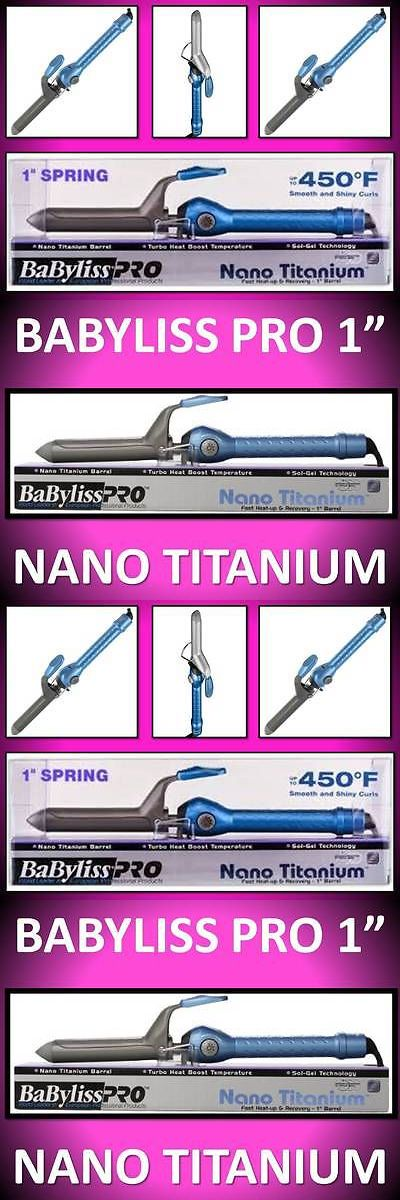 Straightening and Curling Irons: New!!! Babyliss Pro Nano Titanium 450° Turbo Heat Sol-Gel 1 Spring Curling Iron BUY IT NOW ONLY: $37.69