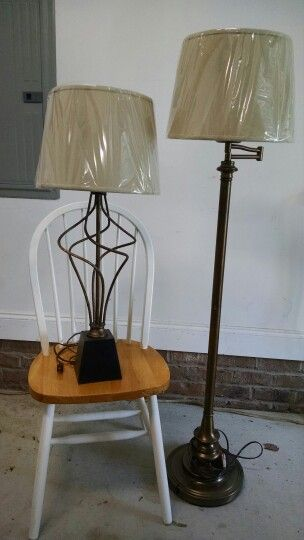 Thrifted Table And Floor Lamp For Living Room. (New Shades.) Part 72