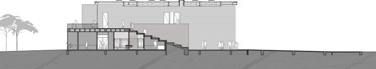 Colegio Los Nogales / Daniel Bonilla Arquitectos Corte