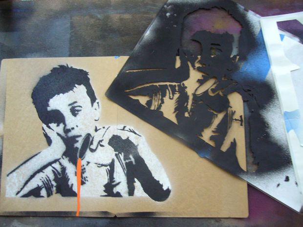 1000+ images about Art II- Banksy Stencil Lesson on ...
