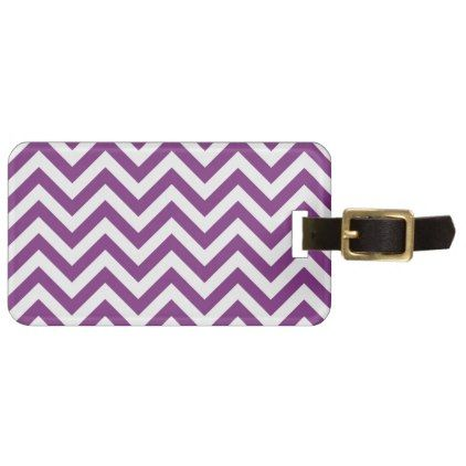Purple Chevron Pattern Luggage Tag - stylish gifts unique cool diy customize