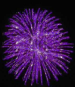 Purple Glitter Graphics | Animated GIFs » Misc » Purple Fireworks