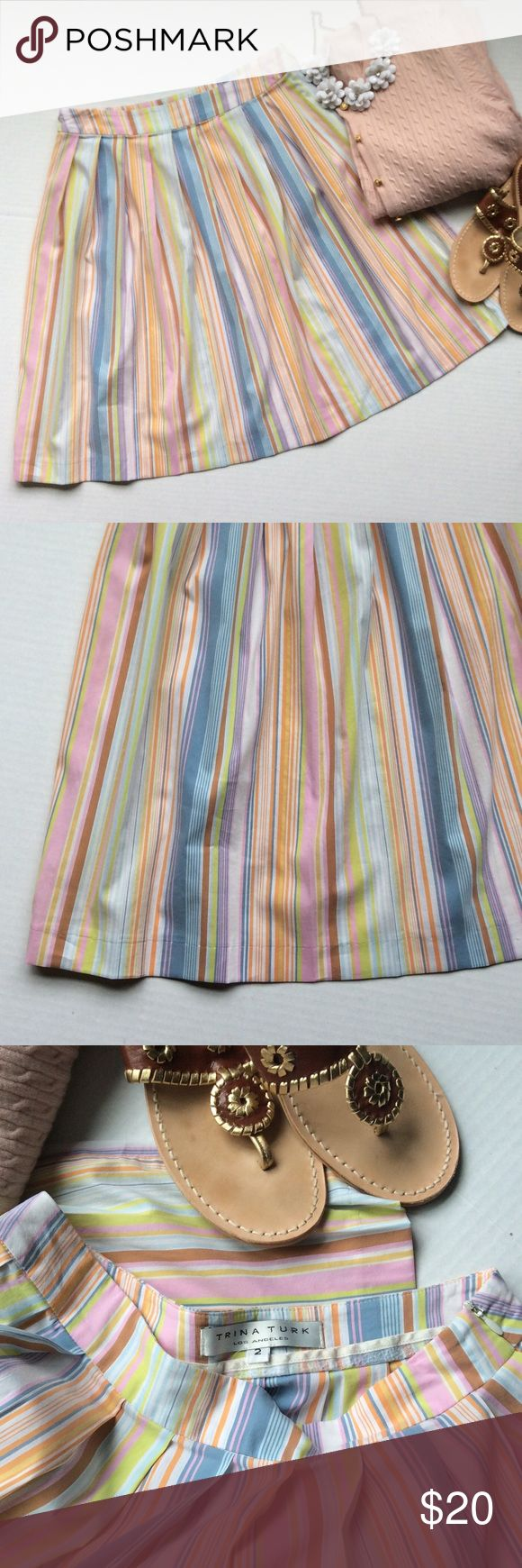 This is your go to closet addition!!! Classic cotton skirt by designer Trina Turk!  So many colors to match it up with! Trina Turk Skirts