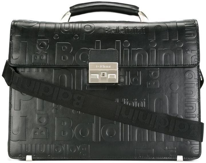 Baldinini logo embossed briefcase