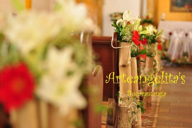 decoracion de iglesia  rustica