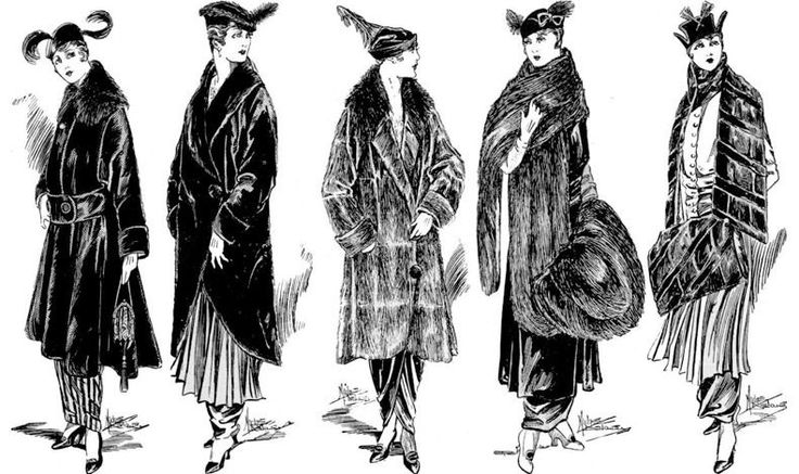 Fur Sketches of the begining of the 20th century