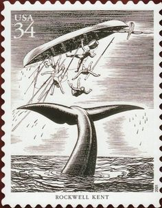 Herman melville and moby dick stamps