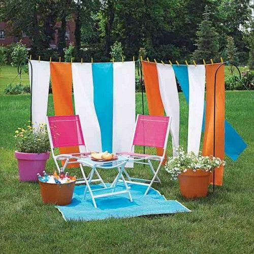 clothesline idea: long strips...with painted pins?