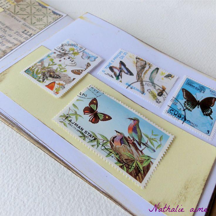 page intérieure album timbres à rabat