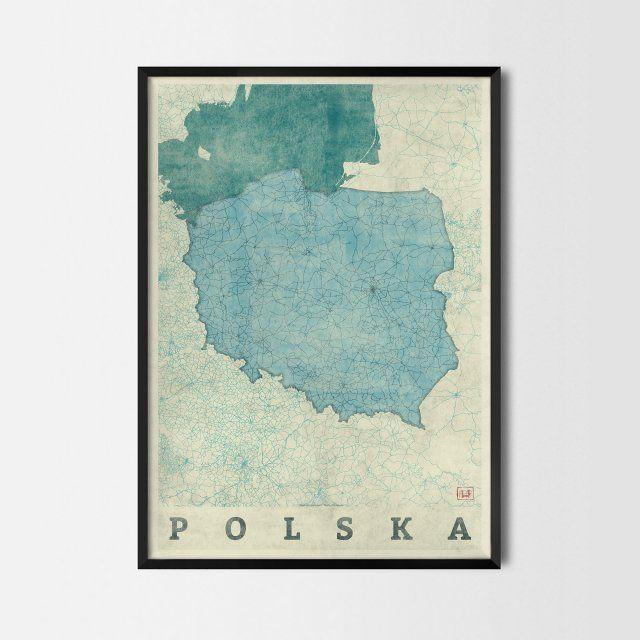 "Plakat ""Polska"" - CityArtPosters"