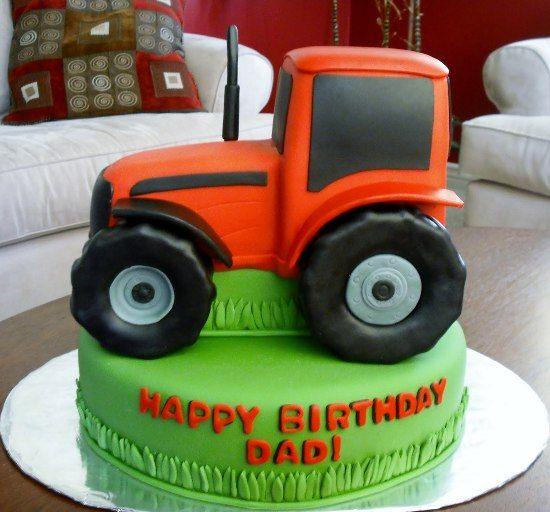 Tractor Birthday Cake Photo