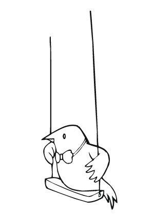 ausmalbild vogel am schaukeln zum ausmalen. ausmalbilder | ausmalbildervögel | malvorlagen