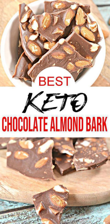 Keto Chocolate Candy Yummy Low Carb Keto Chocolate Almond Bark Diy Homemade Chocolate Health Chocolate Almond Bark Keto Chocolate Recipe Almond Bark Recipes