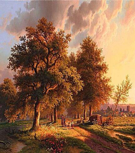 The Sinking Sun Casts Its Array Of Shadows~ Daniel Van Der Putten