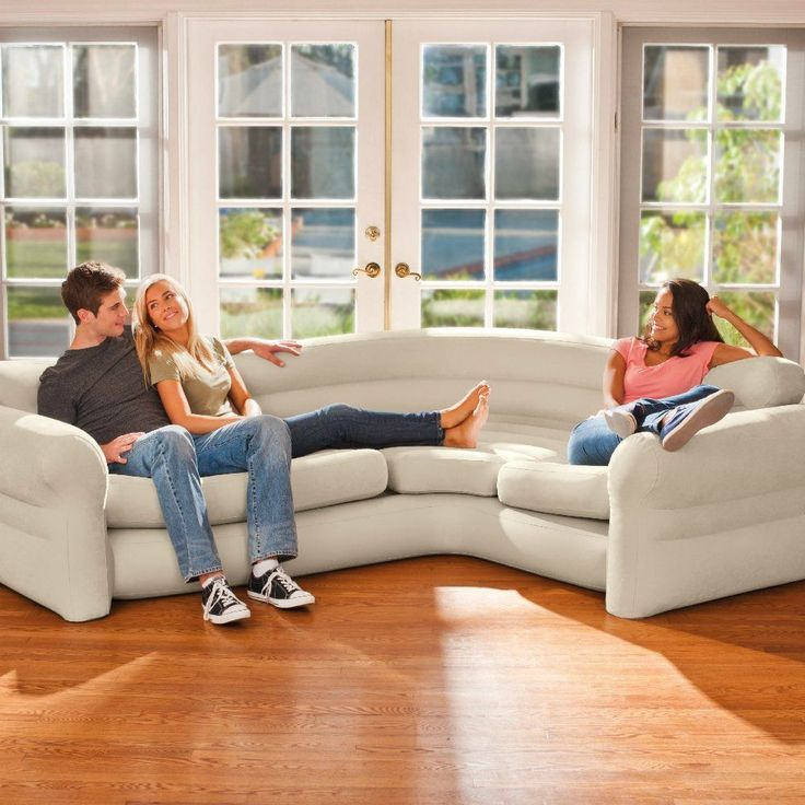 Futon Bed Couch Bed Sofa Sectional Sleeper Futon Living Room Furniture Loveseat #INTEX #Corner