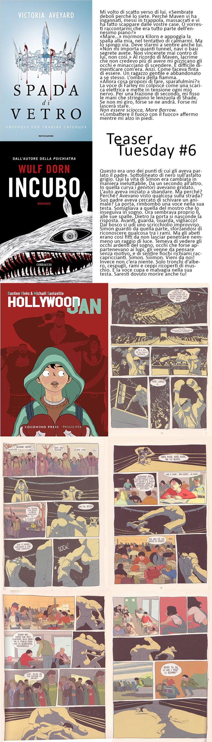 Teaser Tuesday # 6 (13dic2016) Seguici su: https://cantidellebalene.wordpress.com/2016/12/13/teaser-tuesday-6/ #teasertuesday #estratto #citazioni #reginarossa #spadadivetro #victoriaaveyard #incubo #wulfdorn #fumetti #libri #libriconsigliati #lettureconsigliate #comic #holliwoodjan #bastienvives #michaelsanlaville