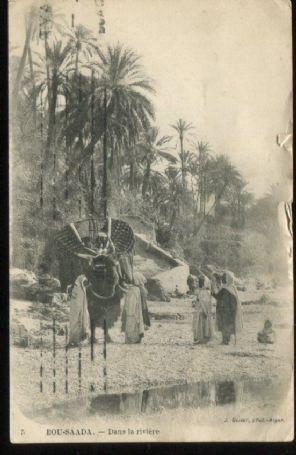 J Geiser Postcard, Bou-Saada Dans la riviere, 5