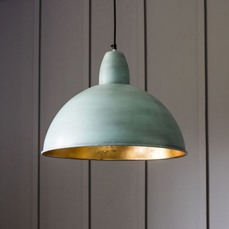 Contemporary Ceiling Pendant Light in Aged Metal and Gold