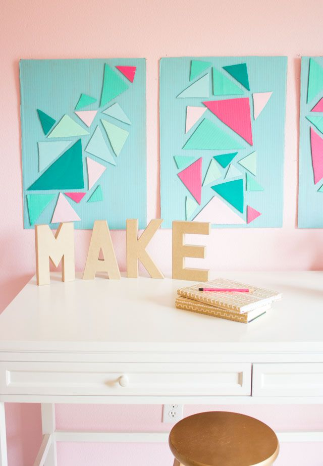 How To Turn A Cardboard Box Into Wall Art Cardboard Crafts Decoration Cardboard Crafts Cardboard Box Crafts