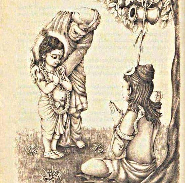 #Shiv ji and #Lord Krishna
