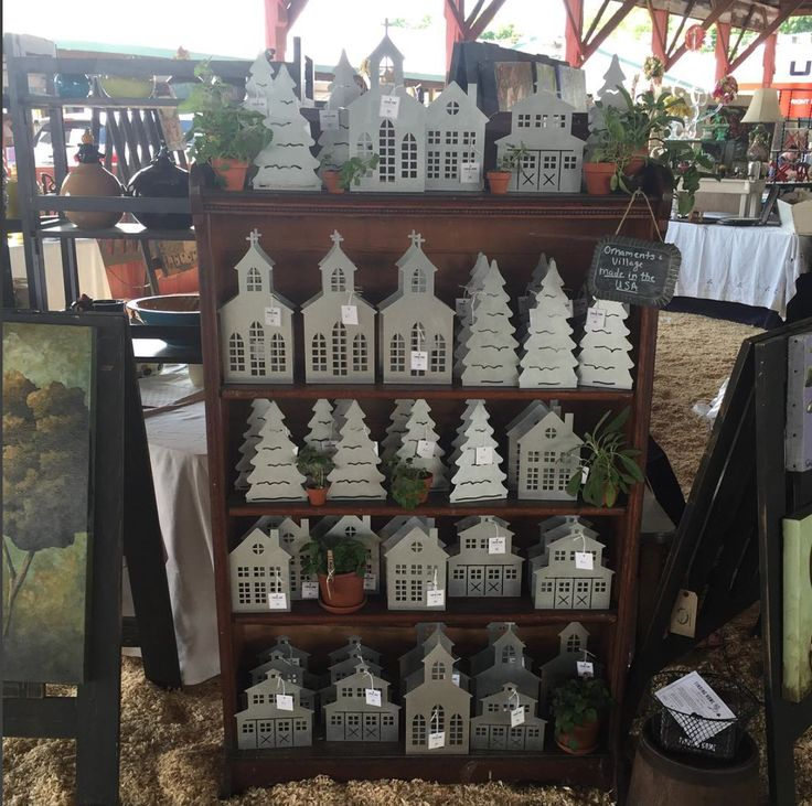 Galvanized Metal Christmas Village | Finding Home Farms at the Country Living Fair