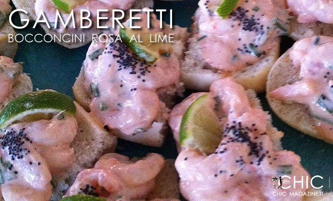 Tartine di gamberetti in salsa rosa al lime - Ricetta