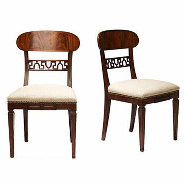 Cuban mahogany klismos chairs by Carl Malmsten