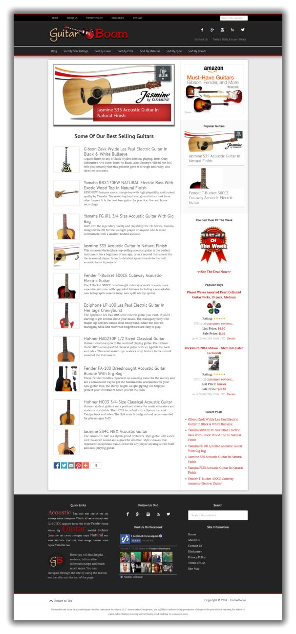 GuitarBoom.com website for sale