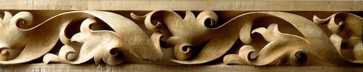 Gothic-style spiraling leaf moulding by Argell Architectural Carving