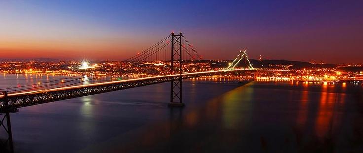 Lisbon - Bridge 25 Abril by night
