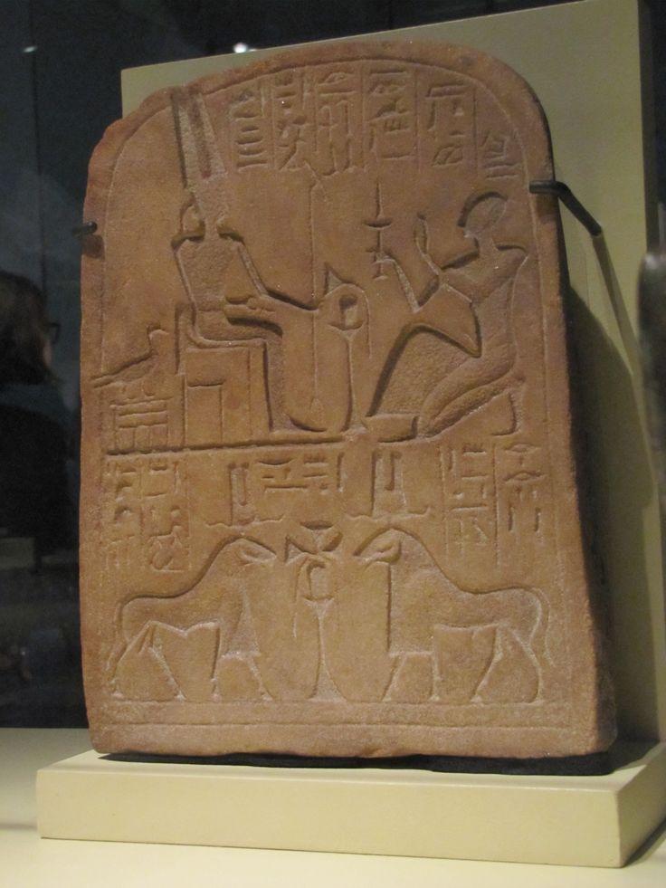 Estela que muestra a Amenemope adorando a Amón-Ra (Tercer Período Intermedio)