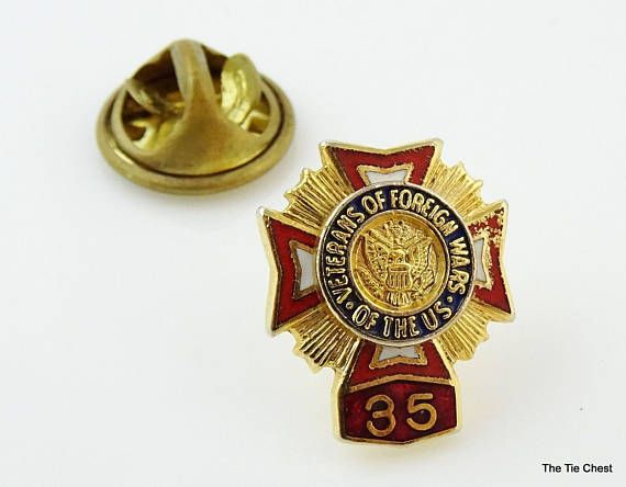 Great find! Veterans of Foreign Wars 35 Lapel Pin  #thetiechest