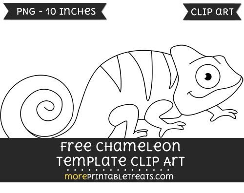 Free chameleon template clipart free clipart files for Eric carle chameleon template