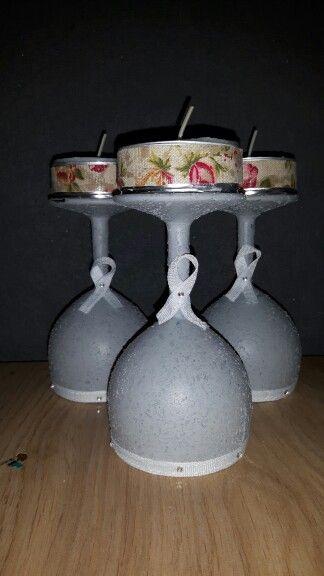 Glas bewerkt met structuur verf