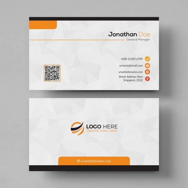 White And Orange Business Card Mockup Business Card Mock Up Printing Business Cards Business Cards Layout