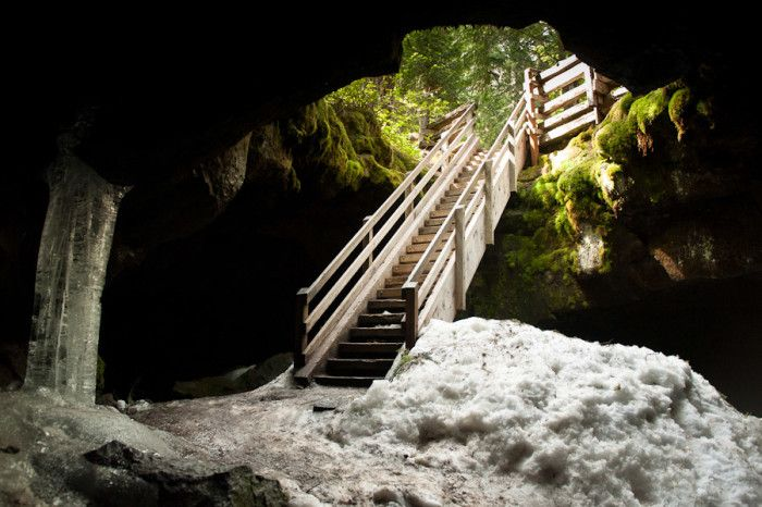 Guler Ice Caves in Gifford Pinchot National Forest, Washington State