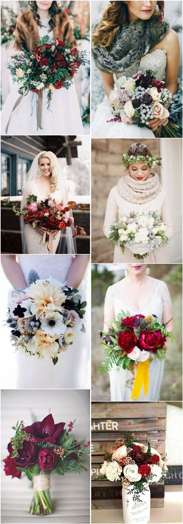 35 Amazing Winter Wedding Bouquets You'll Love | http://www.deerpearlflowers.com/35-amazing-winter-wedding-bouquets-youll-love/
