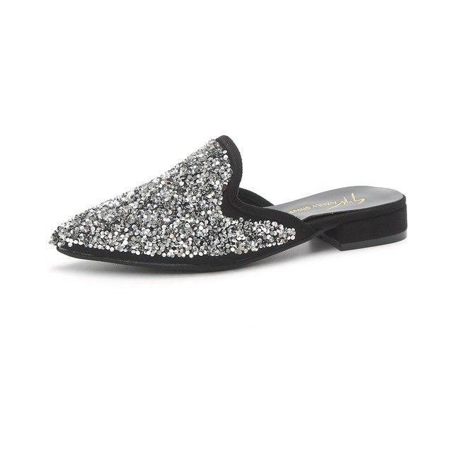PHYANIC Fashion Women Mules Shoes Flat Low Heels M…