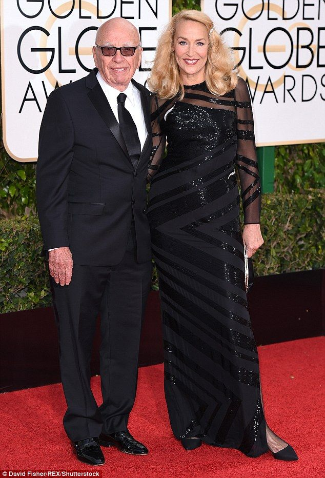 Big love: Jerry Hall, 59, and Rupert Murdoch, 84, have announced their engagement in The Times, just four months into their romance