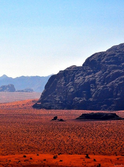 Breathtakingly beautiful. The Wadi Rum dessert in southern Jordan. Also known as 'The Valley of the Moon'.