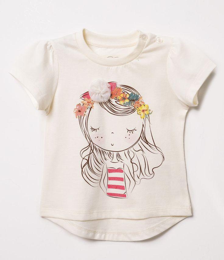 Blusa Infantil Estampa de Menina - Tam 0 a 18 anos   - Lojas Renner