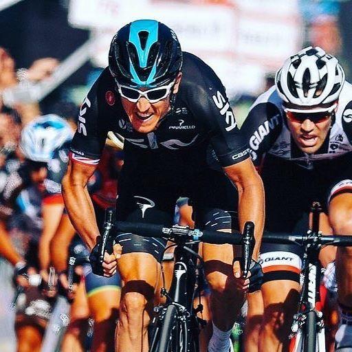 Geraint Thomas finish on Etna Stage 4 Giro 2017