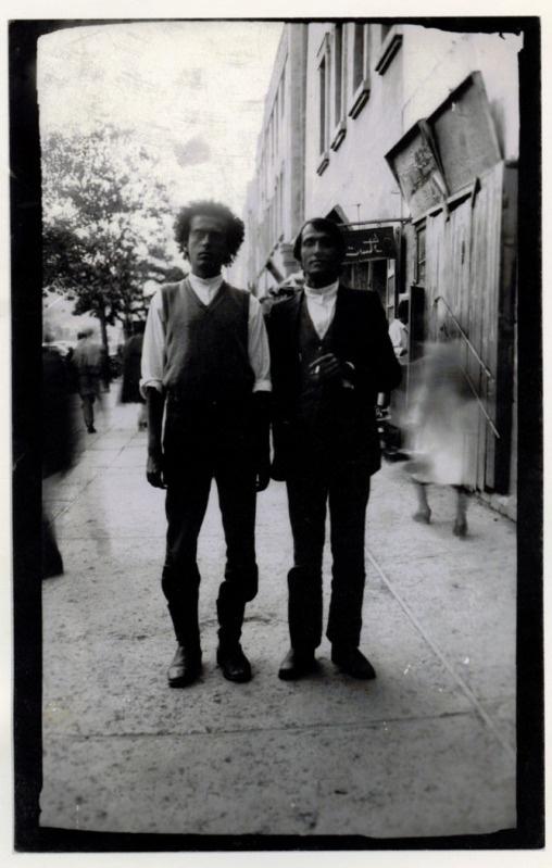 Alighiero Boetti with Francesco Clemente. Kabul, 1974.  * Emanuel Lévinas