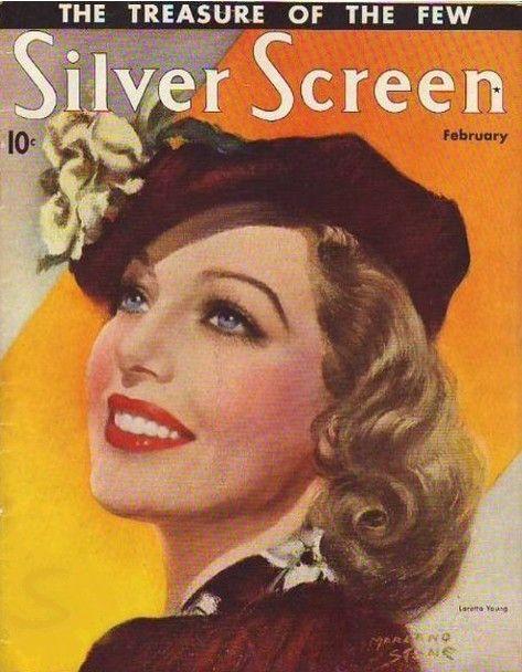 Loretta Young - Silver Screen. February, 1937.