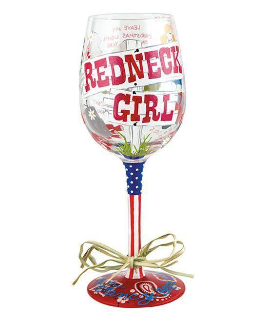 'Redneck Girl' Wineglass