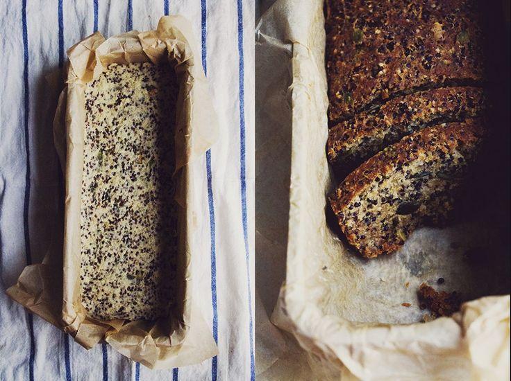 Glutenfritt och veganskt bröd med quinoa