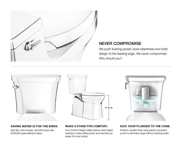 Kohler santa rosa white watersense compact elongated chair