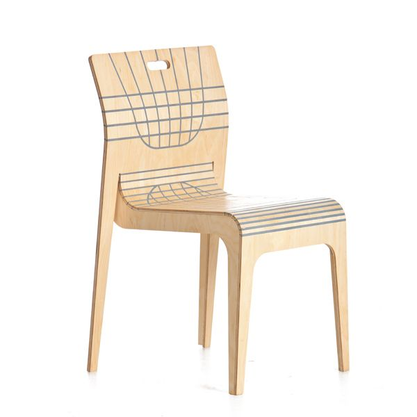 """Impi"" an amazing comfortable wooden stack chair."