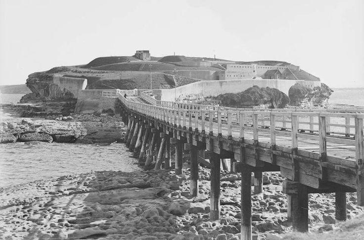 """Bare Island in southeastern Sydney in 1927. """"AL"""""""